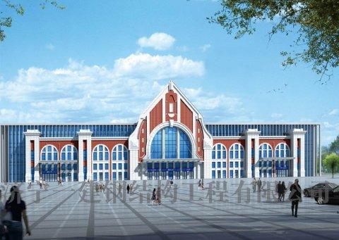 新建济青高铁胶州北站站台玻璃幕墙工程