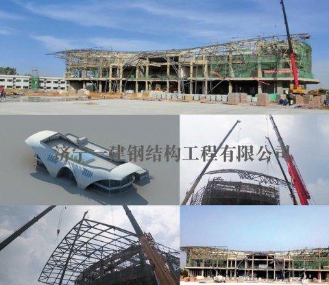 郑州周口航空港服务区综合楼管桁架工程